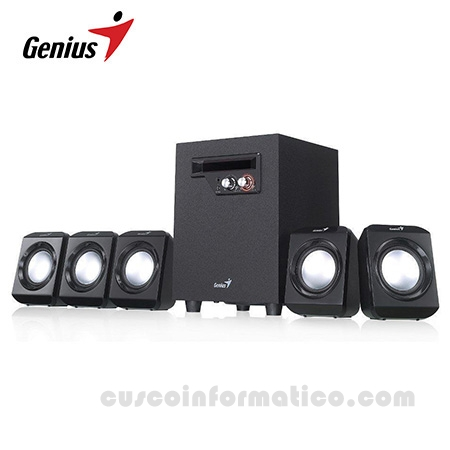 PARLANTE GENIUS SW- 5.1 1020II USB POWER 100V-240V BLACK
