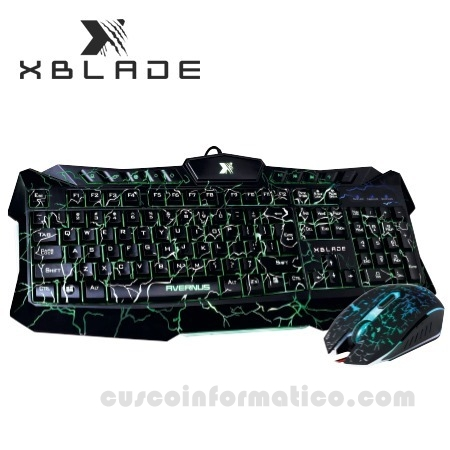 TECLADO XBLADE GAMING + MOUSE AVERNUS KM410L