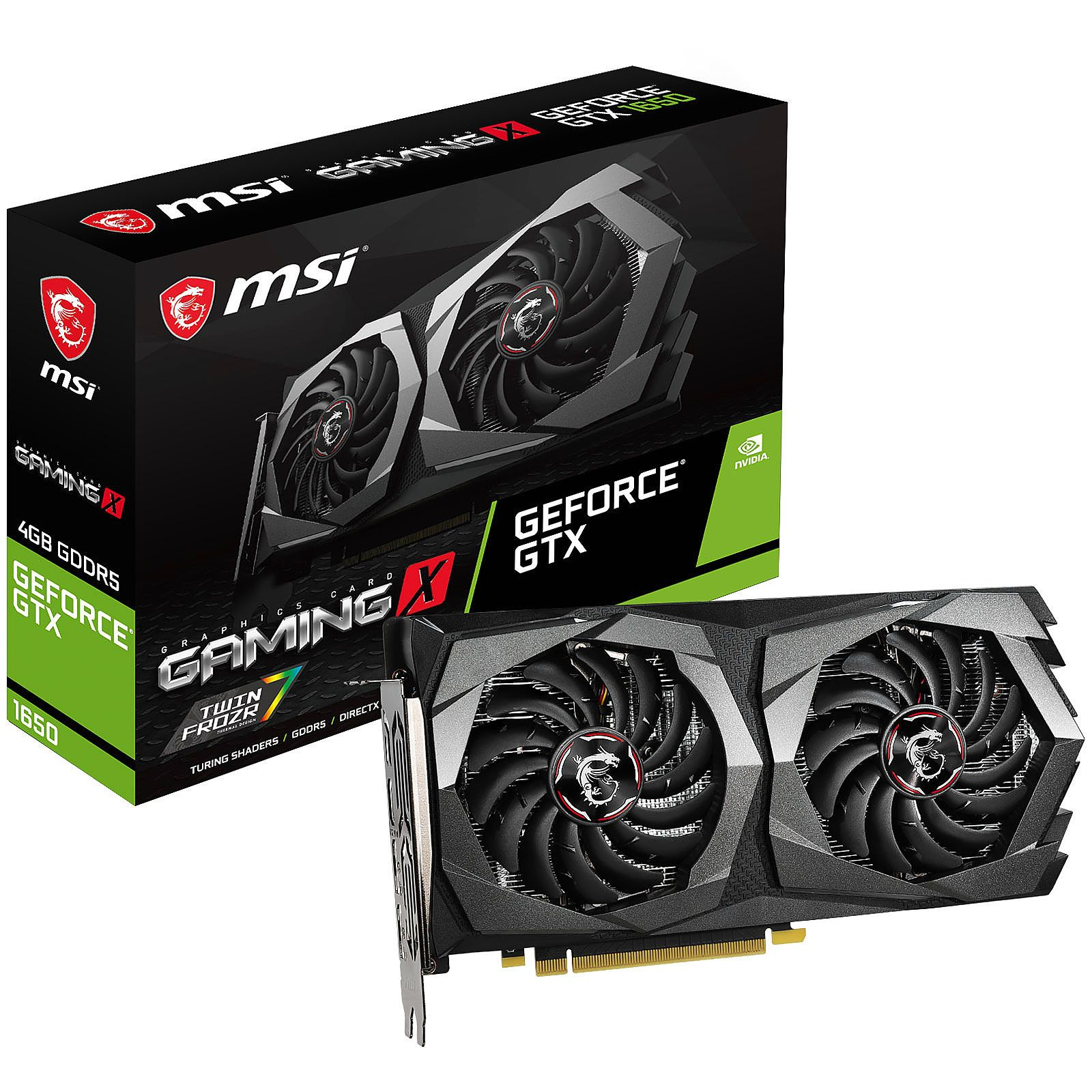 Tarjeta de video MSI GeForce GTX 1650 Gaming, 4GB GDDR5 128-bit, PCI-e 3.0.