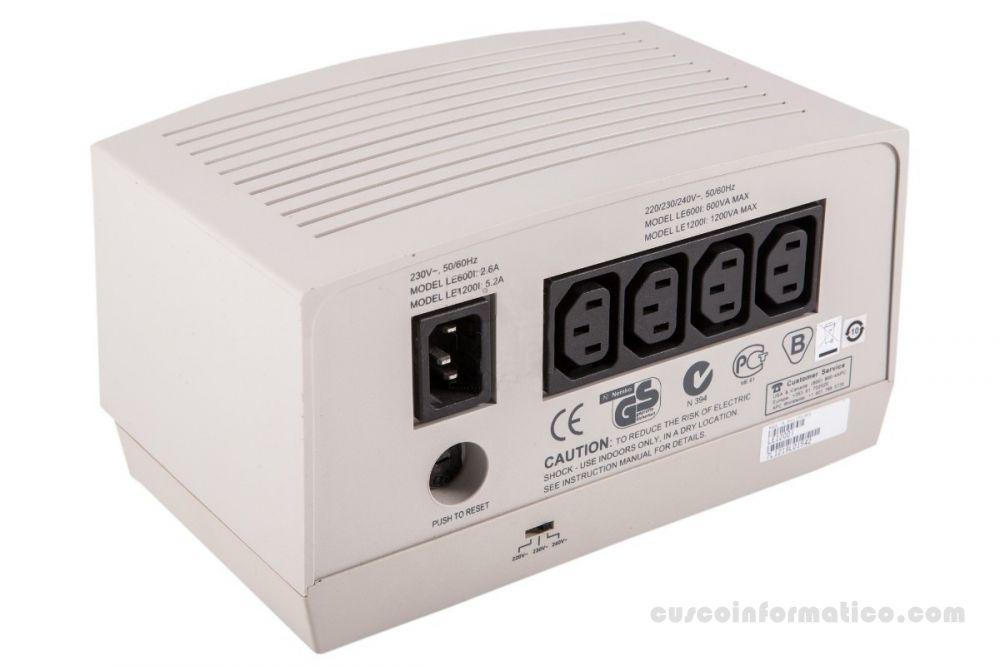 Regulador de voltaje APC LE-1200I 1200W