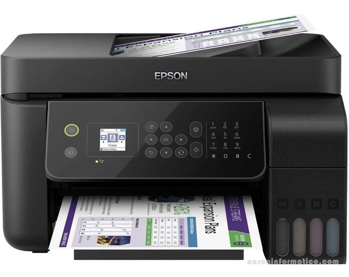 Multifuncional de tinta continua Epson L5190, imprime/escanea/copia/Fax, USB/LAN/WiFi