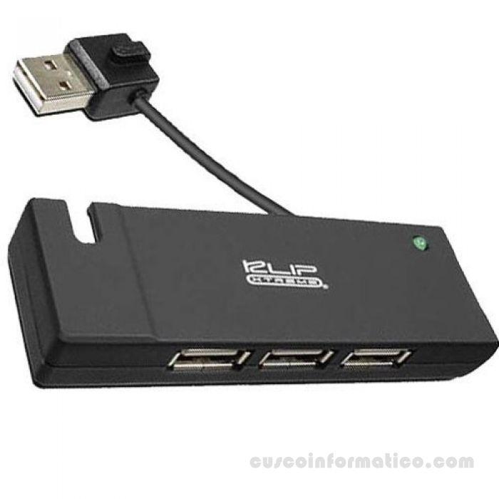 HUB USB 2.0 de 4 puertos Klip Xtreme
