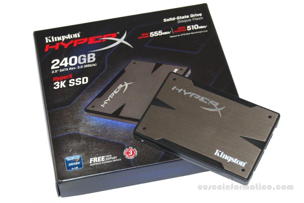 Disco Duro de estado solido 240GB HyperX 3K
