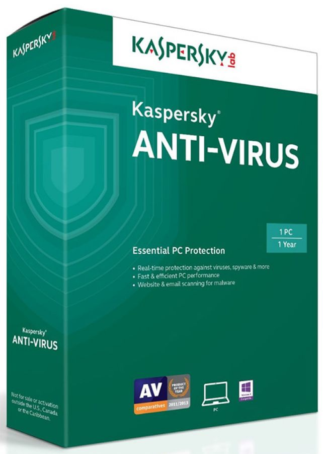 Software Kaspersky Anti-virus 2015  03 PCS