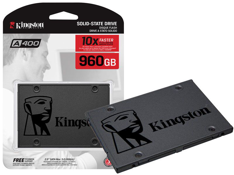 Disco solido Kingston A400, 960GB, SATA